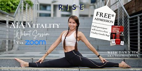 AIA Zoom Vitality Workout Session with Dawn Sim tickets