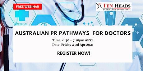 Australian PR pathways for Doctors tickets