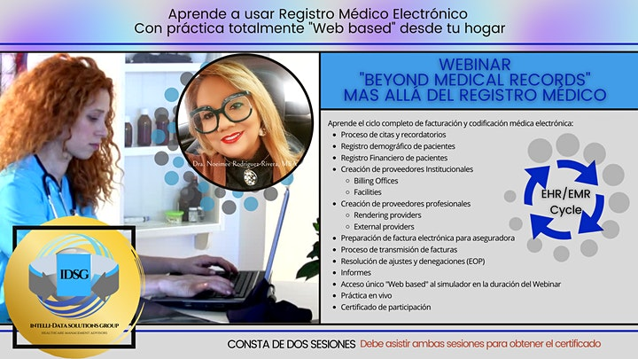Webinar Beyond Medical Records  Registro Electrónico con Simulador Pt. 1 image