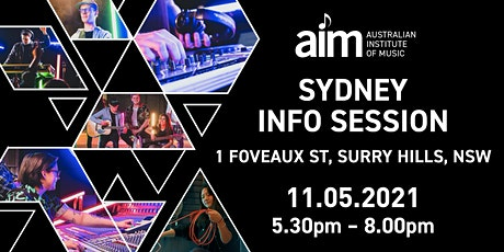 AIM Sydney Info Session: Careers in Music | Tuesday 11th May 2021 tickets