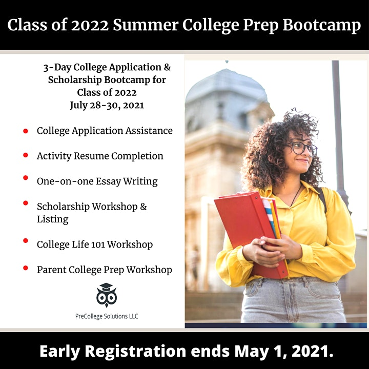 Class of 2022 Summer College Prep Bootcamp image