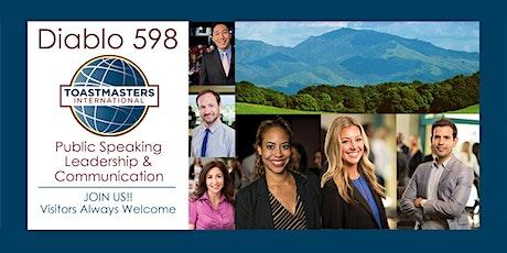 Diablo Toastmasters 598, Concord, CA - Improve Your Public Speaking Skills! tickets