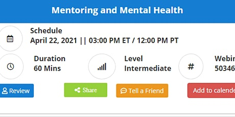 Mentoring and Mental Health tickets
