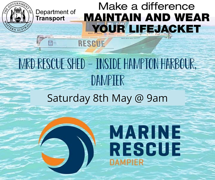Make a Difference - Maintain and Wear your Lifejacket DAMPIER image
