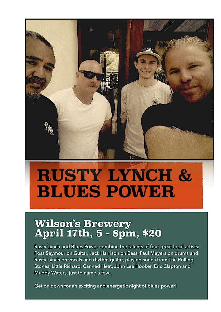 LIVE in the Back Bar - Rusty Lynch and The Blues Power image