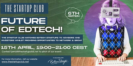 Future of EdTech VI - Online Pitch Night tickets