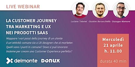 La customer journey tra Marketing e UX nei prodotti SaaS biglietti