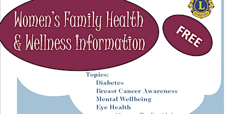 Women's Family Health & Wellness Information tickets