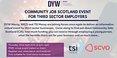 Community Job Scotland Event  for Third Sector Employers tickets