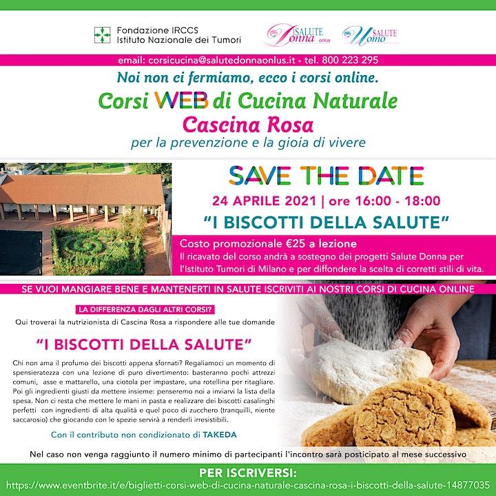 Immagine Corsi Web di Cucina Naturale - Cascina Rosa: I Biscotti della Salute