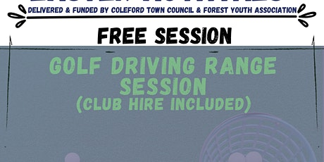 Golf Driving Range Session-  Coleford easter taster Activity tickets