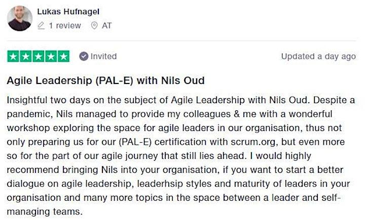 Certified Training | Professional Agile Leadership (PAL-E) image