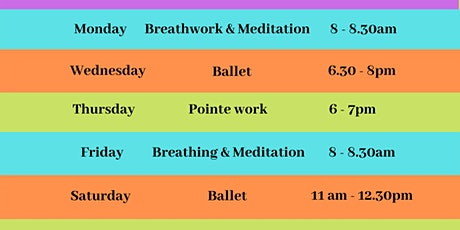 Dance, Movement & Meditation Classes - April 2021 tickets