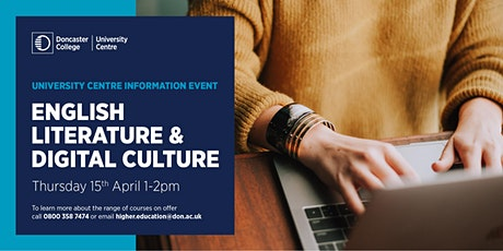 English  Literature &  Digital Culture Information Event tickets