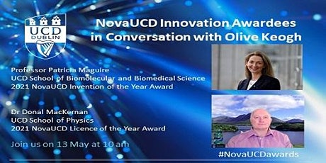 2021 NovaUCD Innovation Awardees in Conversation with Olive Keogh Series tickets