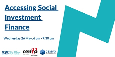 ACCESSING  SOCIAL INVESTMENT FINANCE tickets
