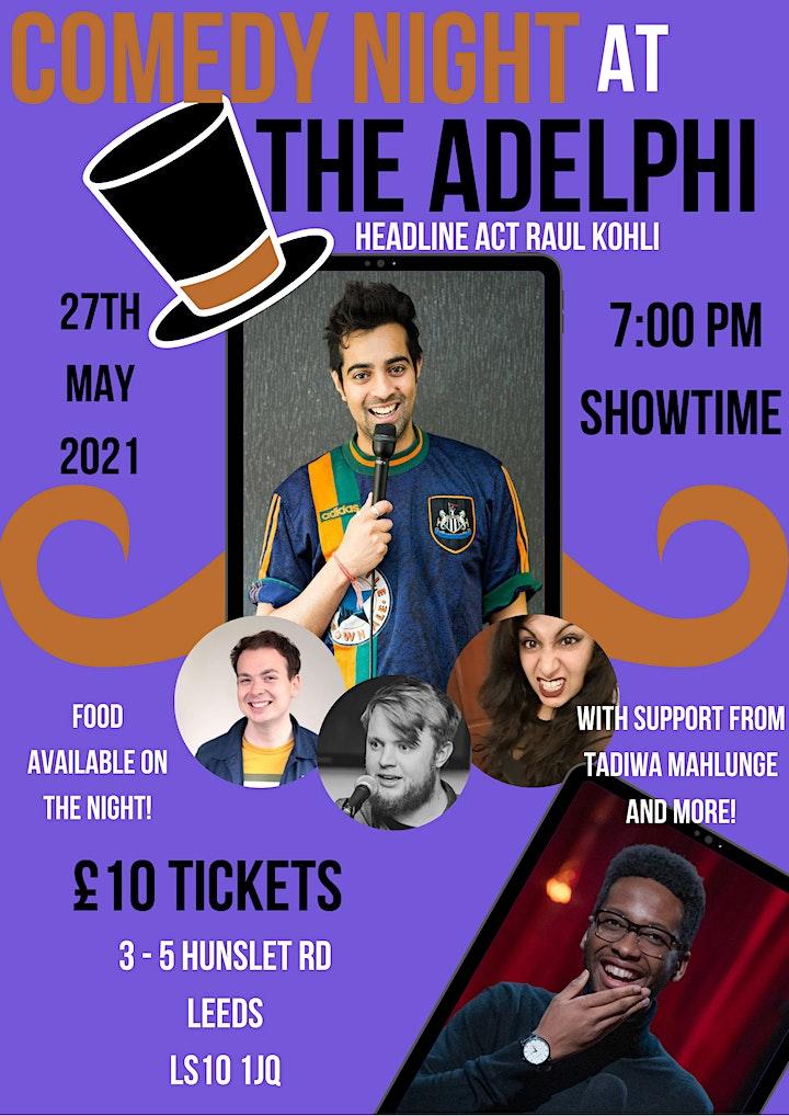 Jack O'Clubs Comedy Night at the Adelphi with Raul Kohli image