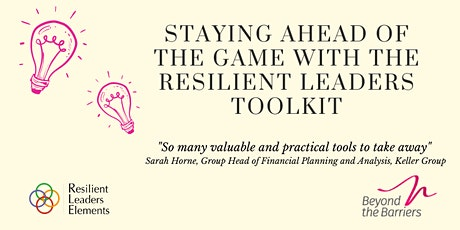 The Resilient Leader's Toolkit tickets