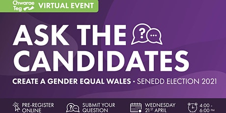 Ask the candidates: Creating a gender equal Wales tickets