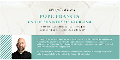 Pope Francis on the Ministry of Exorcism tickets