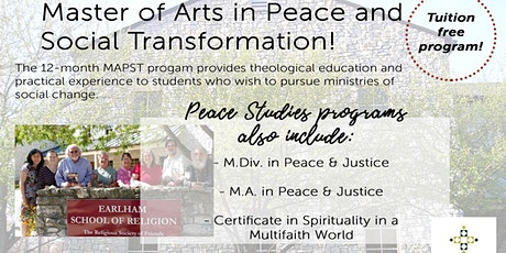 Virtual Master of Arts in Peace and Social Transformation Info Session tickets
