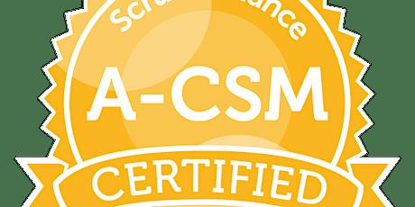 Advanced Certified ScrumMaster | A-CSM | ScrumAlliance |Kleingruppe|deutsch Tickets