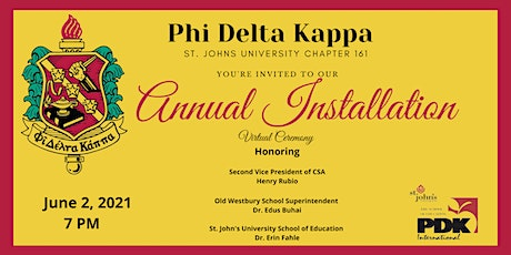 PHI DELTA KAPPA ANNUAL INSTALLATION tickets