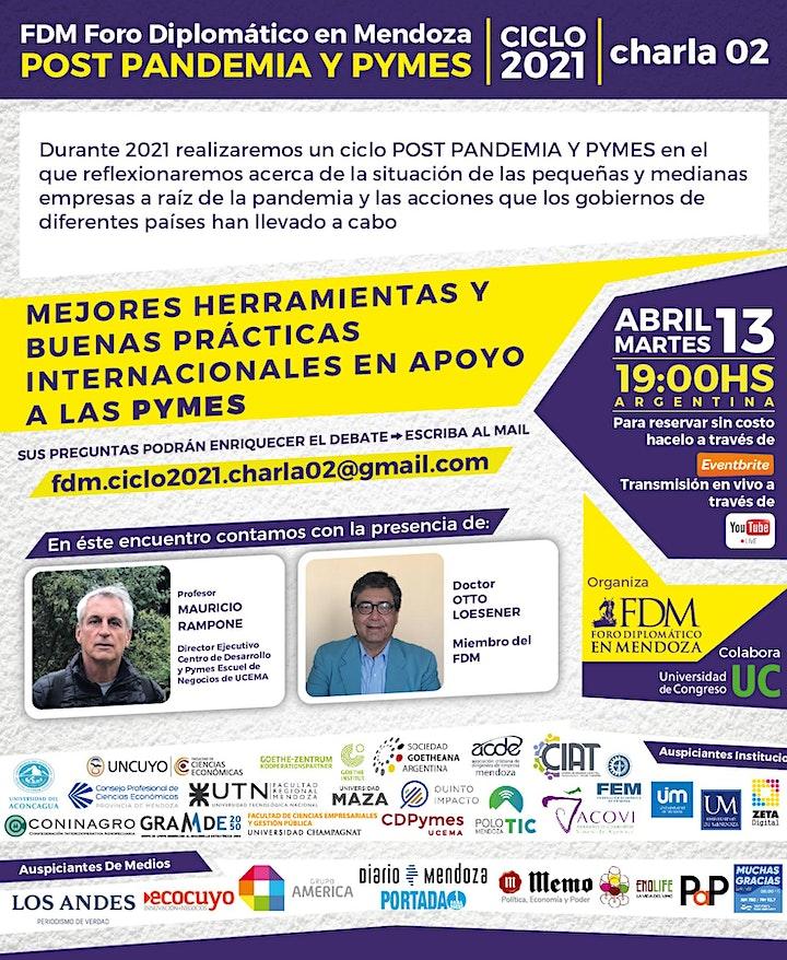 """Imagen de FDM- Ciclo 2021 """"POST PANDEMIA Y PYMES"""" (virtual) charla 02"""