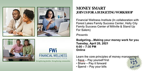 April 20th FWI Money $mart Budgeting Workshop tickets