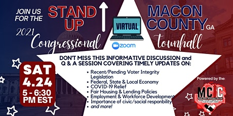 Macon County 2021 Virtual Congressional Townhall tickets