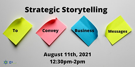 Strategic Storytelling to Convey Business Messages tickets