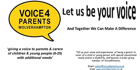 Voice4Parents Virtual Coffee Morning for Parents  and Carers tickets
