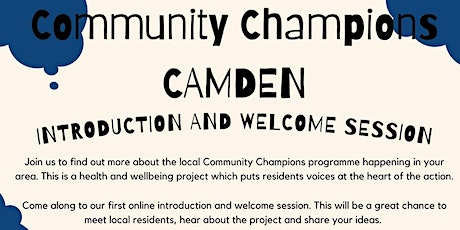 Community Champions Introduction and Welcome Session (5:30pm) tickets