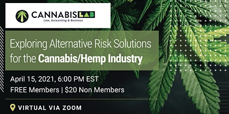 Exploring Alternative Risk Solutions for the Cannabis/Hemp Industry tickets