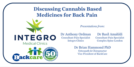 Discussing Cannabis Based Medicines for Back Pain tickets