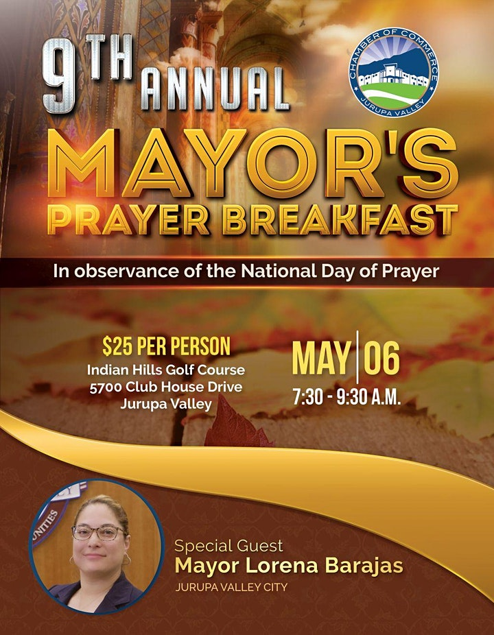 9th Annual Mayor's Prayer Breakfast image