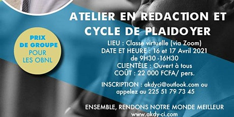 ATELIER EN REDACTION ET CYCLE DE PLAIDOYER billets