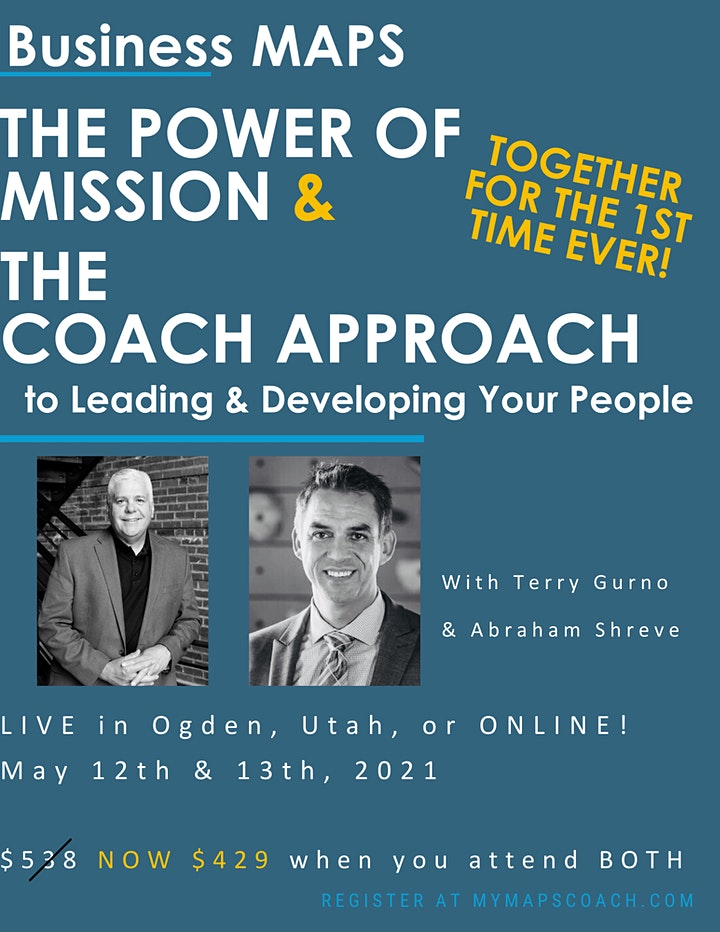 The Power of Mission AND The Coach Approach -  ONLINE & LIVE - Abe Shreve image