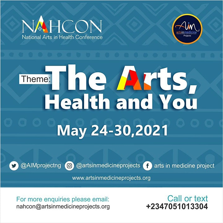 NAHCON: National Arts in Health Conference 2021 Tickets, Mon, May 24, 2021  at 10:00 AM | Eventbrite