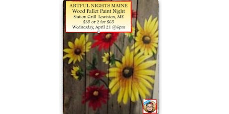Wood Pallet Spring Flowers at Station Grill, Lewiston tickets