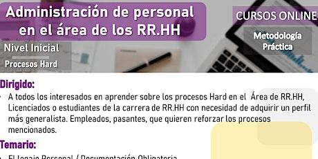 Taller: Administración de Personal en el área de RR.HH boletos