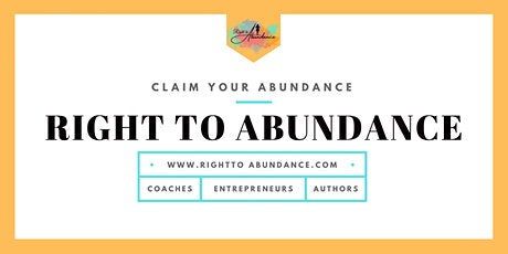Right to Abundance - Business Coaching tickets