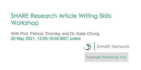 SHARE Research Article Writing Skills Workshop tickets