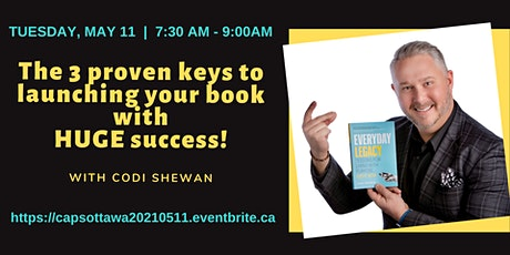 The 3 proven keys to launching your book with HUGE success! tickets