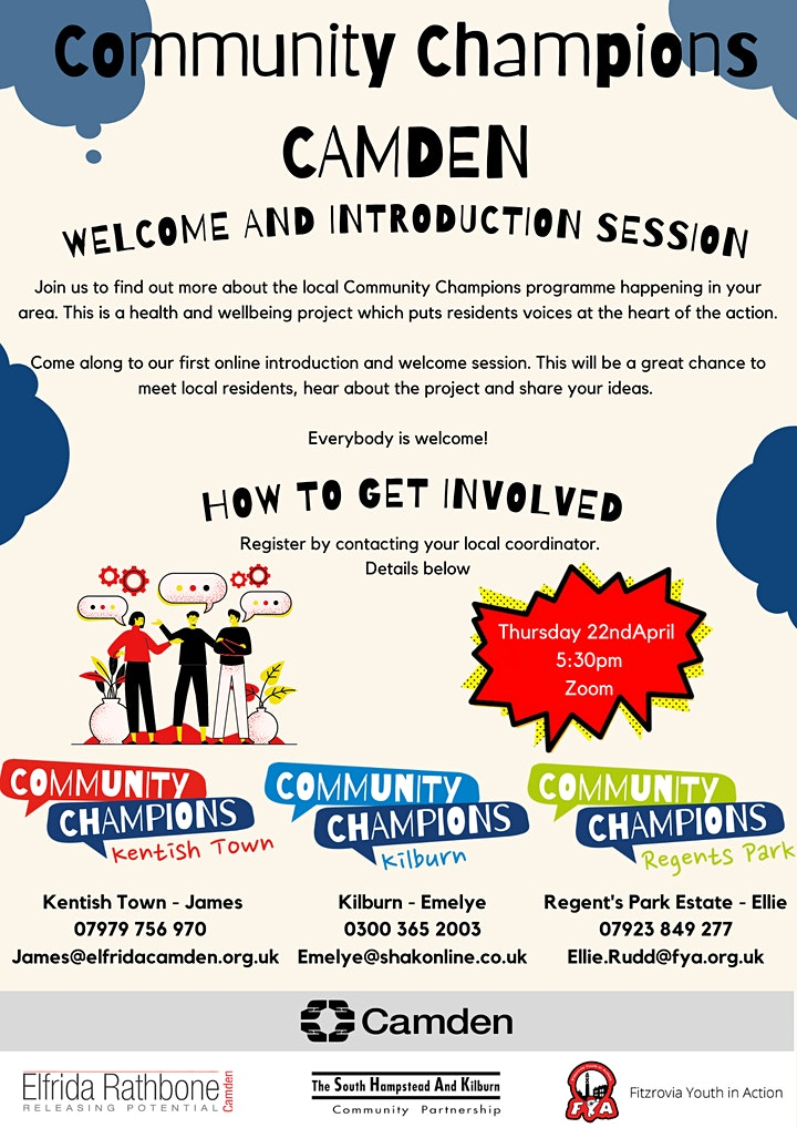 Community Champions Introduction and Welcome Session (5:30pm) image