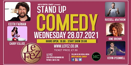 LIVE COMEDY @ Le Fez tickets
