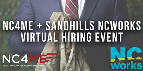 NC4ME & Sandhills NCWorks Virtual Hiring Event tickets
