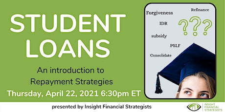 Student Loans: An introduction to Repayment Strategies tickets