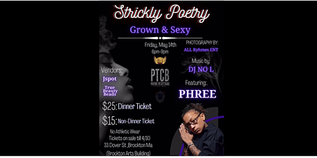Strickly Poetry tickets