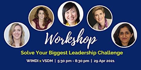 WIMDI Coaching - Solve Your Biggest Leadership Challenge tickets
